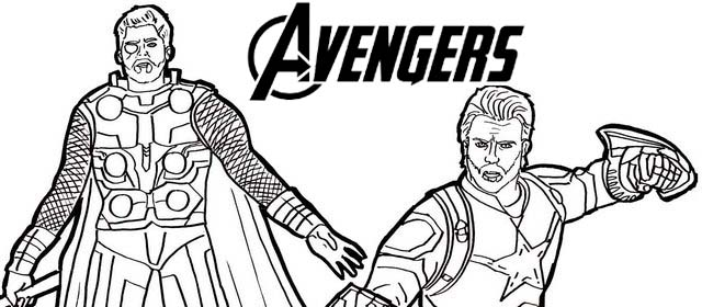 Best Avengers Character Coloring Page