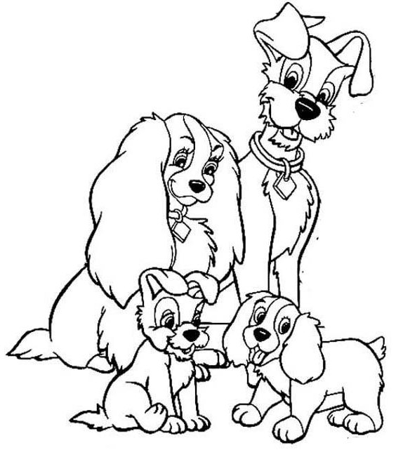 Lady And The Tramp Coloring Books: Best Lady And The Tramp Coloring Page For Kids