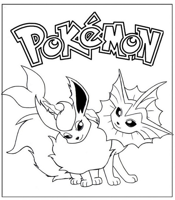 Best Pokemon Eevee Dragon Coloring Page