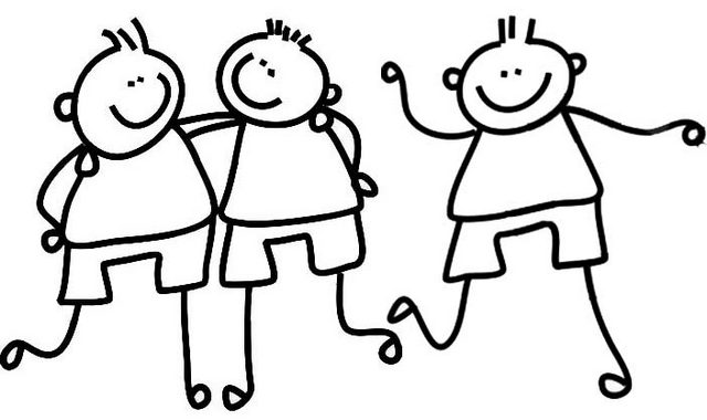 Happy Friendship Coloring Page for Kids
