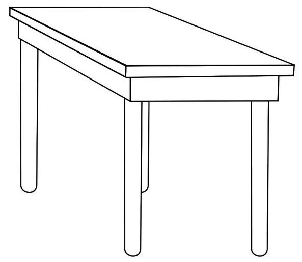 Simple Table Coloring Page