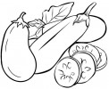 Top Seven Eggplant Coloring Pages in Cartoon and Real Version