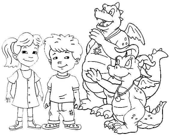 Best Dragon Tales Coloring Page