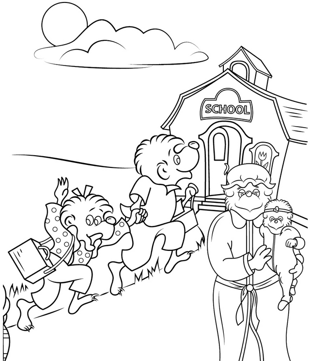 berenstain bears going to school coloring pages