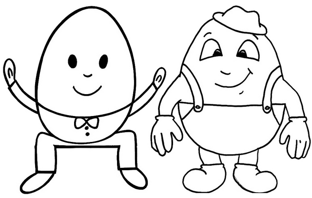 nursery rhyme humpty dumpty coloring page