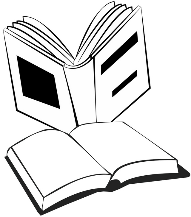 Book Clipart Coloring Page