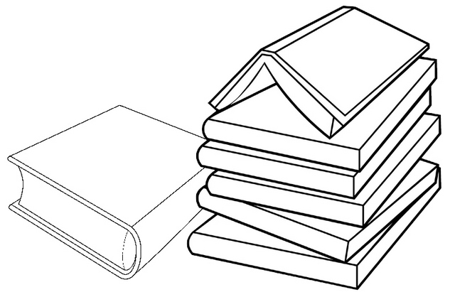 Book Tower Coloring Page so many books