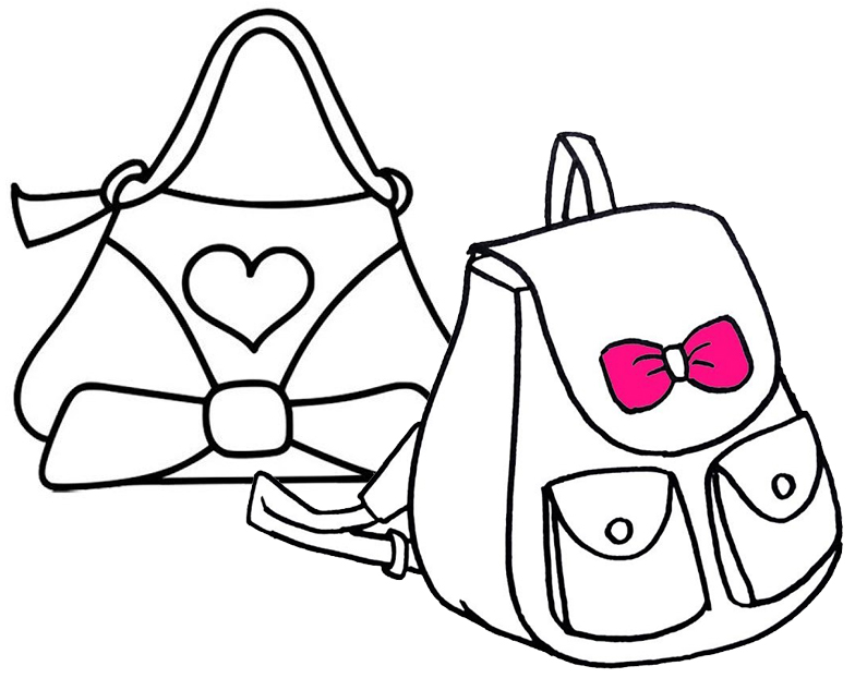 Fun Bag Coloring Page for Children