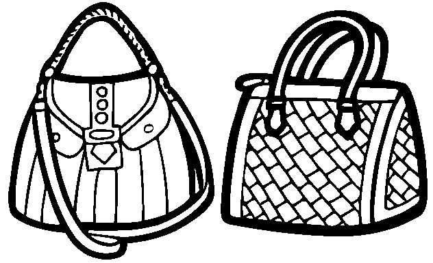 Ladies Bag Coloring Page