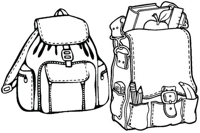 Leather Bag Coloring Page