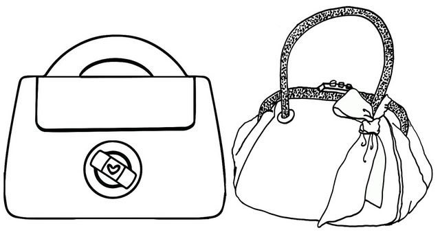 Luxury Bag Brands Coloring Page