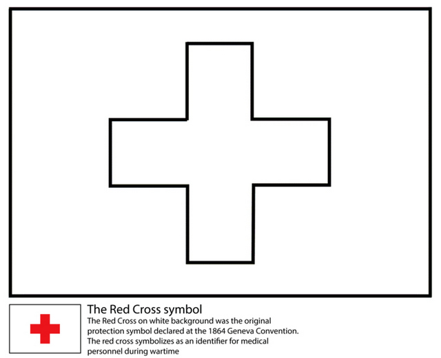 Red Cross Coloring Page International Humanitarian Organization