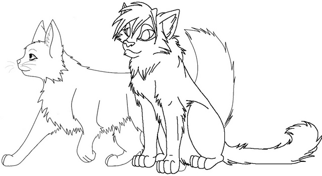 Redfangf and Southwind Coloring Page of Warrior Cat