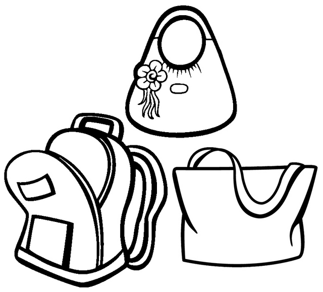 Side Bag Coloring Page