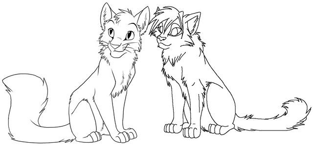 Southwind and Tigerstar Coloring Page of Warrior Cat