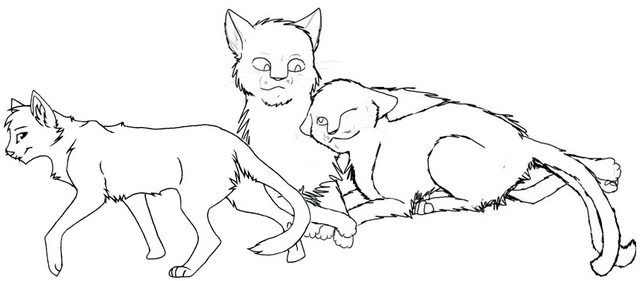 awesome warrior cat coloring page