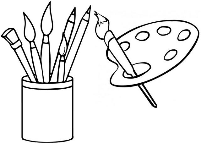 best palette coloring page
