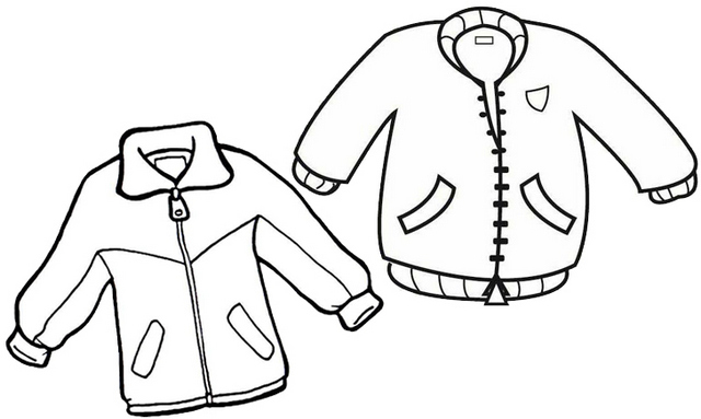 jacket design coloring page