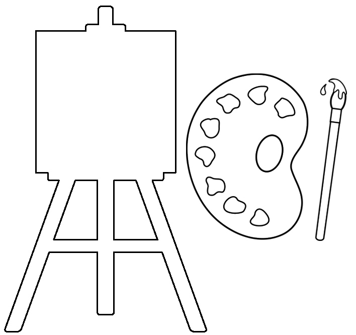 painting tool coloring page