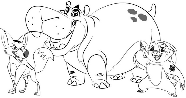 Besthe Bunga and Reirei Coloring Page of Lion Guard Disney