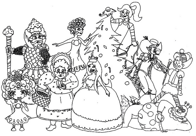 Seven Delightful Candyland Coloring Pages for Children ...