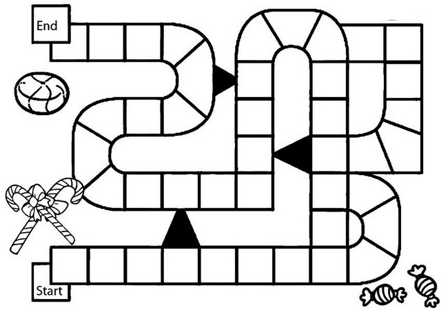 Candyland Game Board Coloring Page