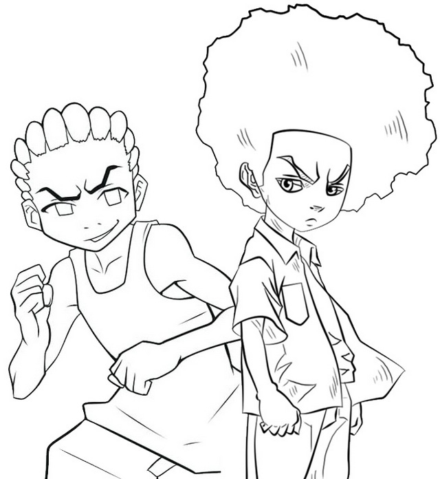 Celebrity Cameo Boondocks Coloring Page