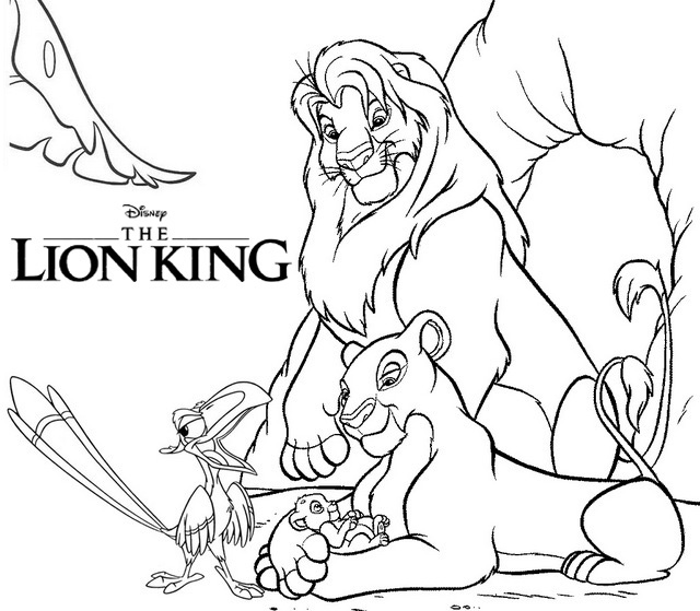 Disney The Lion King Coloring Page 2019