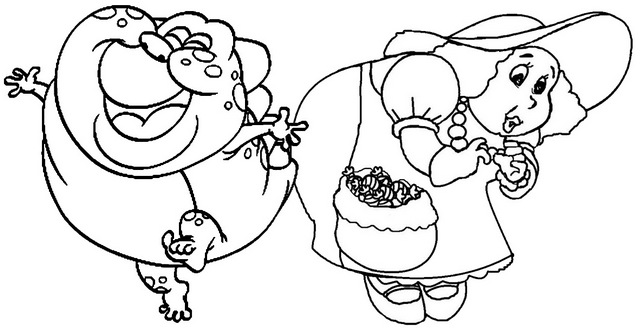 Gramma Nutt and Jolly Coloring Pages of Candyland