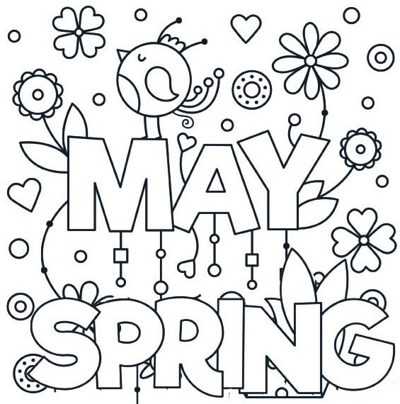 May Spring Coloring Page