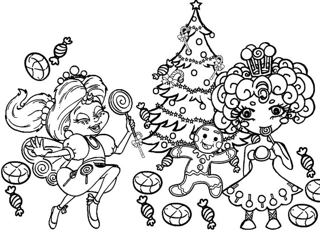 Princess Lolly and Lolly Coloring Page of Candyland