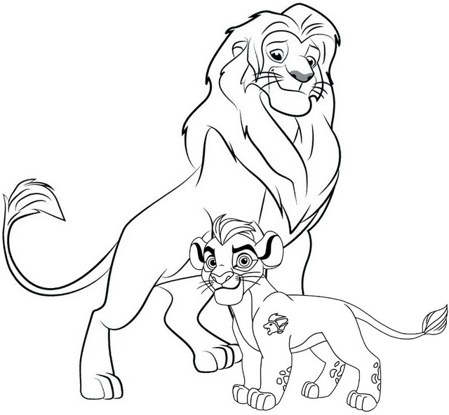 The Lion Guard Coloring Page for Fans