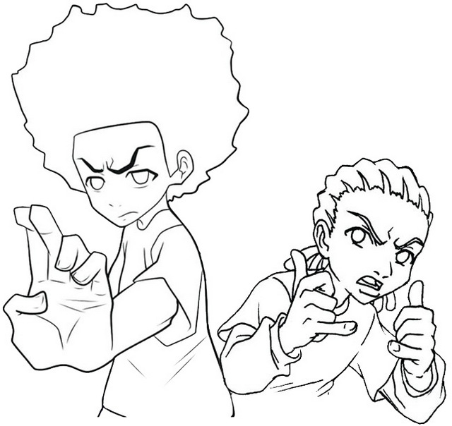 best boondocks coloring pages freeman