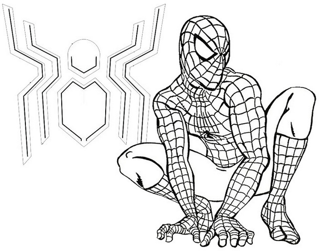 spider man far from home coloring page for fans