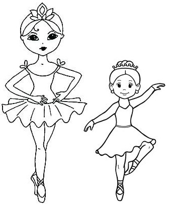 Ballet Dance Princess Coloring Page