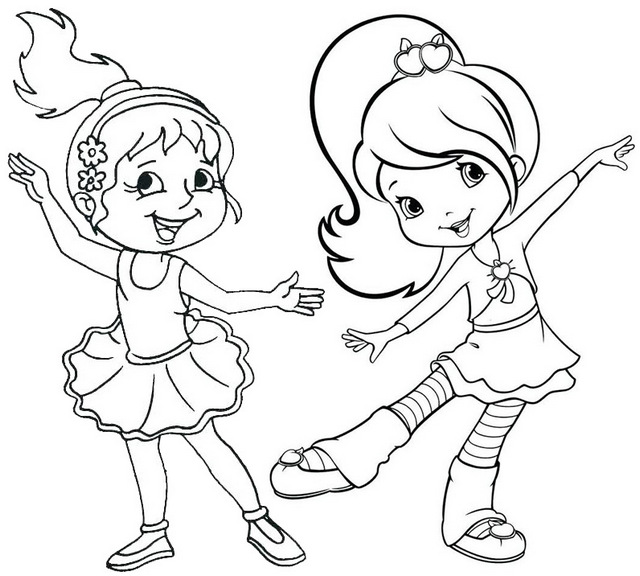 Dance Cartoon Coloring Page