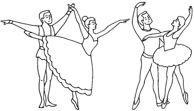 Dance Contemporary Coloring Page