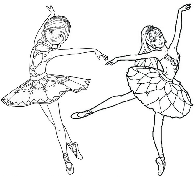 Dancing Princess Coloring Page for girl
