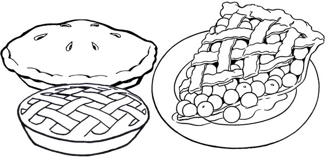 Delicious Pie Coloring Page