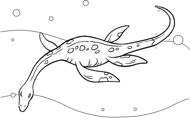 Plesiosaurus facts coloring page