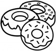 Yummy Donut Coloring Pages for Kids