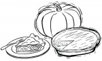 Six Fun Delicious Pie Coloring Pages for Kids