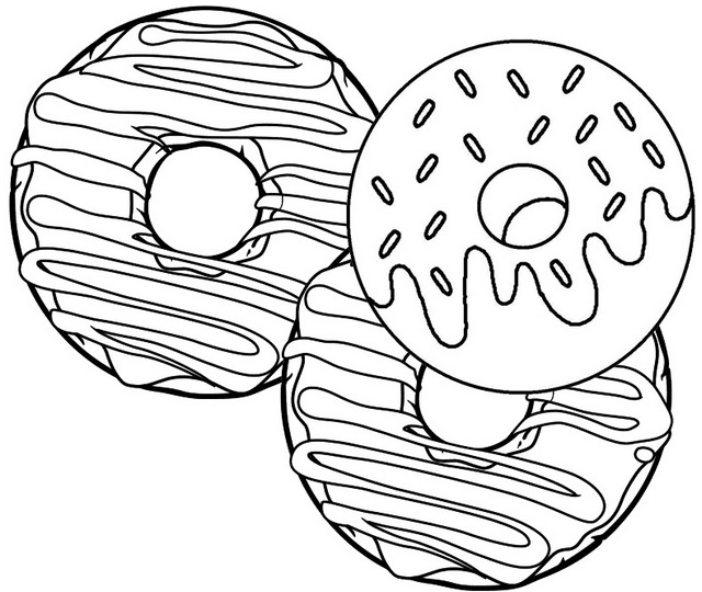 delicious donut coloring page