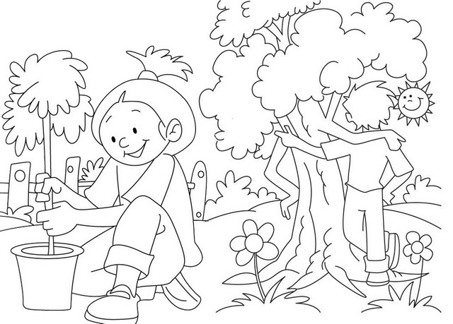 trees are our best friends coloring page of arbor day