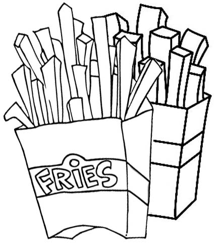 Best French fries Coloring Page
