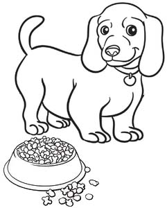 Chubby little puppy dog coloring page