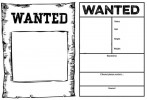Seven Best Wanted Poster Coloring Pages for Kids