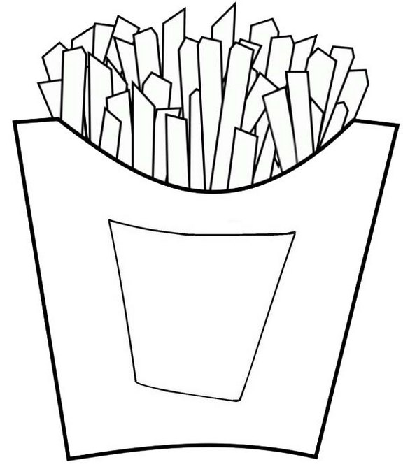 Yummy Fries Coloring Page of Potato