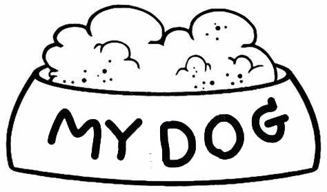 best dog bowl coloring page