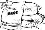 Five Fun Rice Coloring Pages for Kids